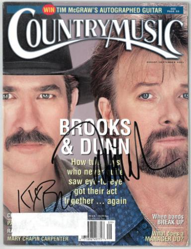 Kix Brooks & Ronnie Dunn (Brooks & Dunn) dual signed Country Music Full Magazine Aug/Sept 2001- JSA Hologram #EE63048