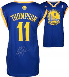 Klay Thompson Golden State Warriors Autographed Blue Replica Adidas Jersey