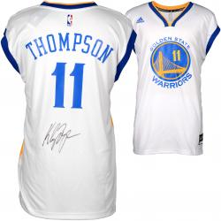 Klay Thompson Golden State Warriors Autographed White Replica Adidas Jersey