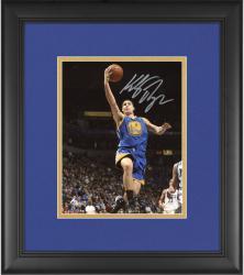 "Klay Thompson Golden State Warriors Framed Autographed 8"" x 10"" Blue Uniform Layup Photograph"