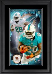 Knowshon Moreno Miami Dolphins 10'' x 18'' Vertical Framed Photograph with Piece of Game-Used Football - Limited Edition of 250