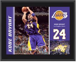 Los Angeles Lakers Kobe Bryant 10'' x 13'' Sublimated Plaque - Mounted Memories