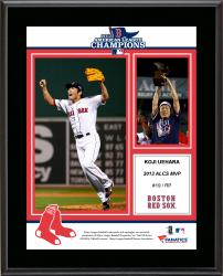 Koji Uehara Boston Red Sox 2013 American League Champions MVP Sublimated 10.5'' x 13'' Plaque - Mounted Memories