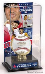 Koji Uehara Boston Red Sox 2013 MLB World Series Champions Gold Glove with Image Display Case - Mounted Memories