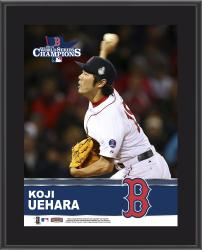 Koji Uehara Boston Red Sox 2013 MLB World Series Champions 10'' x 13'' Sublimated Player Plaque - Mounted Memories