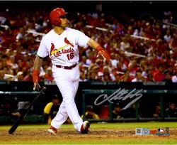 "Kolten Wong St. Louis Cardinals Autographed 8"" x 10"" Standing and Watching Home Run Photograph"