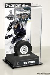 Anze Kopitar Los Angeles Kings 2014 Stanley Cup Champions Logo Deluxe Puck Display Case - Mounted Memories