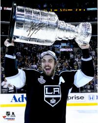 Anze Kopitar Los Angeles Kings 2014 Stanley Cup Champions Autographed 16'' x 20'' Raising Stanley Cup Photograph - Mounted Memories