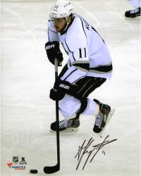 Anze Kopitar Los Angeles Kings 2014 Stanley Cup Champions Autographed 8'' x 10'' with Puck Vertical Photograph - Mounted Memories