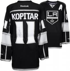 Anze Kopitar Los Angeles Kings 2014 Stanley Cup Champions Autographed Black Reebok Jersey - Mounted Memories