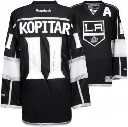 Anze Kopitar Los Angeles Kings 2014 Stanley Cup Champions Autographed Black Reebok Jersey with SC Champs Inscription - Mounted Memories
