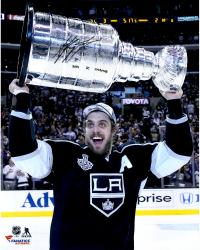 Anze Kopitar Los Angeles Kings 2014 Stanley Cup Champions Autographed 16'' x 20'' with Stanley Cup Photograph with SC Champs Inscription - Mounted Memories