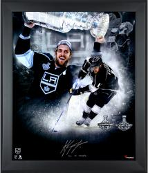 Anze Kopitar Los Angeles Kings 2014 Stanley Cup Champions Framed Autographed 20'' x 24'' In Focus Photograph with 2X SC Champs Inscription-#2-10,12-25 of a Limited Edition of 25 - Mounted Memories