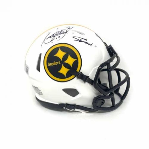 Kordell Stewart Signed Pittsburgh Steelers Lunar Eclipse Mini Helmet with Slash