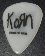 Korn Untouchables Tour 2002 Concert Tour Guitar Pick Rare Authentic