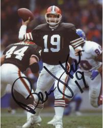Bernie Kosar Cleveland Browns Fanatics Authentic Autographed 8'' x 10'' vs. Denver Broncos Throw Photograph