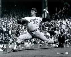 "Sandy Koufax Los Angeles Dodgers Autographed 16"" x 20"" 1963 World Series Game 1 Photograph"