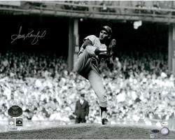 "Sandy Koufax Los Angeles Dodgers Autographed 16"" x 20"" 1963 World Series Game 1 Wind Up Photograph"