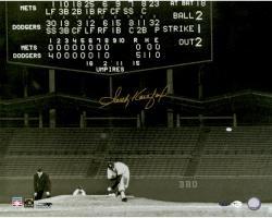 "Sandy Koufax Los Angeles Dodgers Autographed 16"" x 20"" No Hitter Scoreboard Photograph"