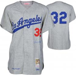 Sandy Koufax Los Angeles Dodgers Autographed Gray Jersey