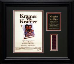 KRAMER VS KRAMER FRAMED PHOTO w/FILM STRIP AND PLATE