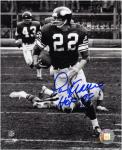 "Paul Krause Minnesota Vikings Autographed 8"" x 10"" Black and White Photograph with HOF 98 Inscription"
