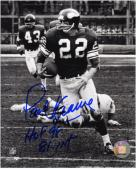 "Paul Krause Minnesota Vikings Autographed 8"" x 10"" Black and White Photograph with HOF 98 and 81 INT Inscriptions"