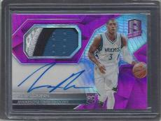 Kris Dunn 2016-17 Panini Spectra Neon Pink Rpa 4 Color Patch On Card Auto #d /49