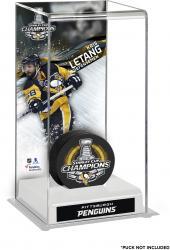 Kris Letang Pittsburgh Penguins 2016 Stanley Cup Champions Logo Deluxe Puck Case
