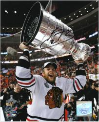 "Chicago Blackhawks Kris Versteeg 2010 Stanley Cup Champions Autographed 8"" x 10"" Photo"