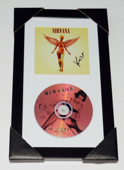 Krist Novoselic Autographed Nirvana In Utero Cd Cover (framed & Matted) - Coa!