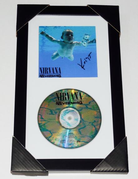 Krist Novoselic Autographed Nirvana Nevermind Cd Cover (framed & Matted) - Coa!