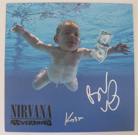 Krist Novoselic Butch Vig signed autographed Nirvana Vinyl Record,Album LP,Proof