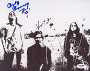 Krist Novoselic & Chad Channing Nirvana Signed 8X10 Photo PSA #S80705