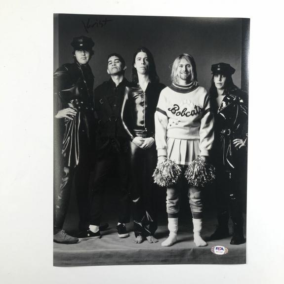 Krist Novoselic Signed 11x14 Photo PSA/DNA autographed