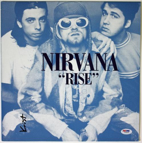 """Krist Novoselic Signed Nirvana """"rise"""" Album Psa/dna Coa W78099"""