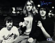 KRIST NOVOSELIC w/ Kurt Cobain Signed NIRVANA 8x10 Photo BECKETT BAS #C83601