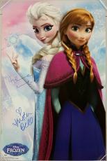 KRISTEN BELL + IDINA MENZEL Signed Disney's Frozen 22.5x34 Poster w/ PSA/DNA COA