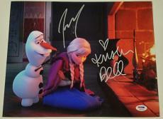 KRISTEN BELL + JOSH GAD Signed 11x14 Photo #3 Disney's FROZEN Auto PSA/DNA COA