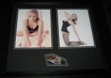 Kristen Bell Signed Framed 16x20 Lingerie Photo Set JSA Veronica Mars