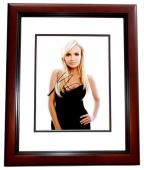 Kristin Chenoweth Signed - Autographed Wicked Actress and Singer 8x10 inch Photo - Guaranteed to pass PSA/DNA or JSA - MAHOGANY CUSTOM FRAME