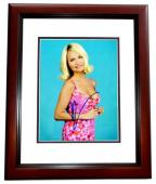 Kristin Chenoweth Signed - Autographed Wicked Actress and Singer 8x10 inch Photo MAHOGANY CUSTOM FRAME - Guaranteed to pass PSA or JSA