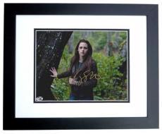Kristen Stewart Autographed TWILIGHT 8x10 Photo BLACK CUSTOM FRAME