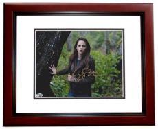 Kristen Stewart Autographed TWILIGHT 8x10 Photo MAHOGANY CUSTOM FRAME