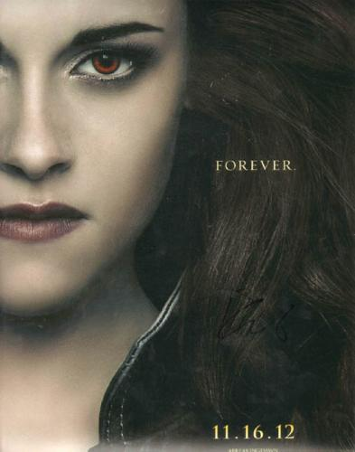 Kristen Stewart Signed 11x14 Breaking Dawn Photo UACC RD COA AFTAL