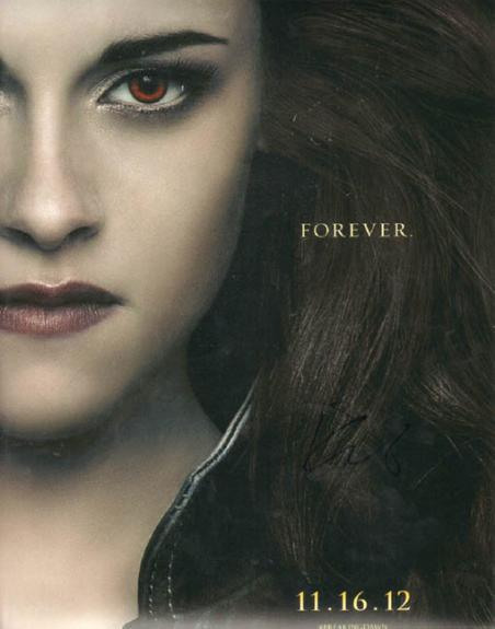 Kristen Stewart Signed 11x14 Breaking Dawn Photo UACC RD COA AFTAL