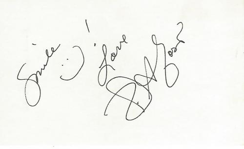 "KRISTIAN ALFONSO -ACTRESS/FIGURE SKATER- Best Known for HOPE WILLIAMS BRADY on TV Series ""DAYS of OUR LIVES"" Signed 5x3 Index Card"