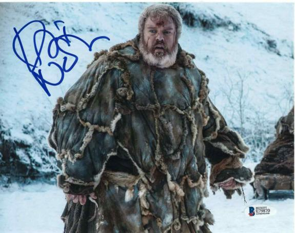 Kristian Nairn Signed 8x10 Photo Game Of Thrones Beckett Bas Autograph Auto A