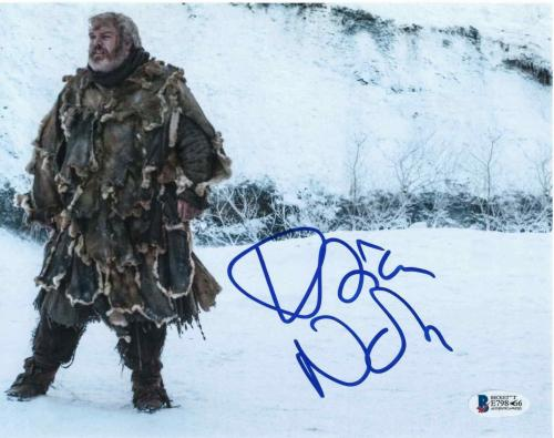 Kristian Nairn Signed 8x10 Photo Game Of Thrones Beckett Bas Autograph Auto E