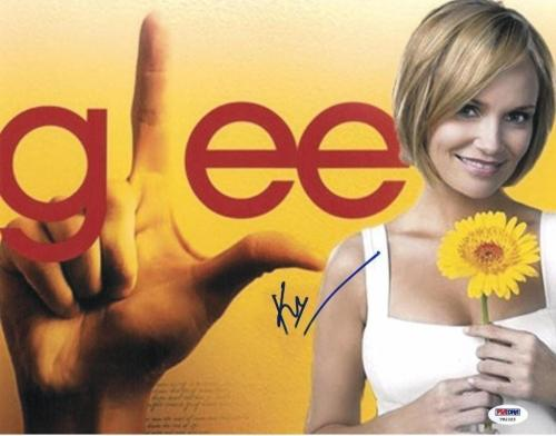 Kristin Chenoweth Signed GLEE Authentic Autographed 11x14 Photo PSA/DNA #T82325